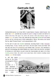 Resource: Gertrude Bell