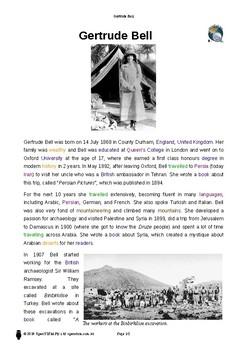 Resource: Gertrude Bell