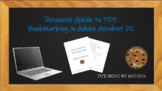 Resource Guide to PDF Bookmarking for Adobe Acrobat DC