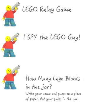Resource- LEGO Party Game Labels Freebie