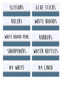 Resource Labels Blue Chevron