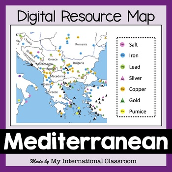 Resource Map of the Ancient Mediterranean World including the Black Sea