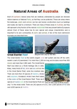 Resource: Natural Areas of Australia
