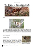 Resource: Origins of Domestic Animals