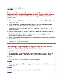 Resource Package - The Mosquito Coast - Grades 11-12