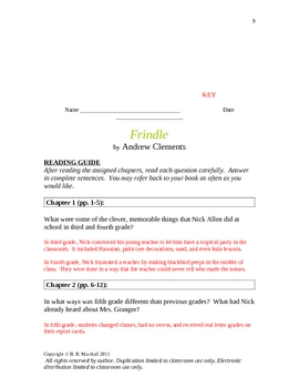Resource Packet - FRINDLE by Andrew Clements