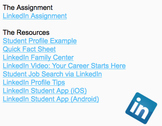 Resource Packet: LinkedIn Career Account for Students: Soc
