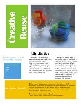 Resource Packet:  Recycle, Reuse Everyday Materials in the