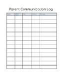 Resource Parent Communication Log