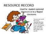 Resource Record for a Student Centered or Flipped Classroom