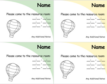 Resource Reminder Cards