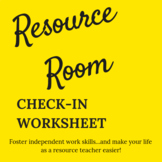 Resource Room Check In Sheet for Special Educators