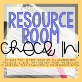 Resource Room Check-in | Special Education Resource