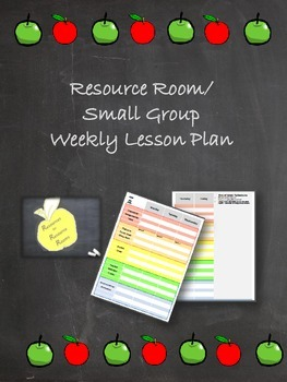 Resource Room/Small Group Lesson Planner