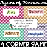 Types of Resources 4 Corner Game