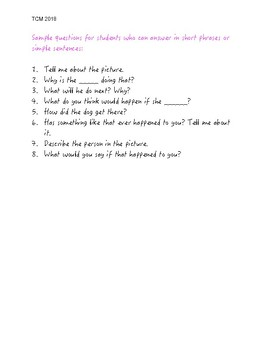 Resource- Sample Questions for Developmental Stages