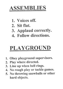 Resource- Simple Rules for School Areas