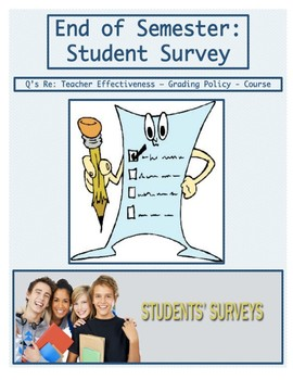Resource: End of Semester Student Survery