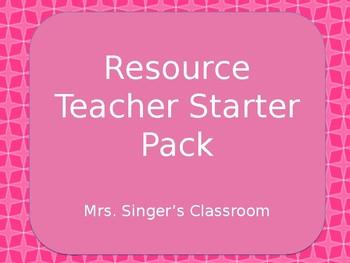 Resource Teacher Starter Kit