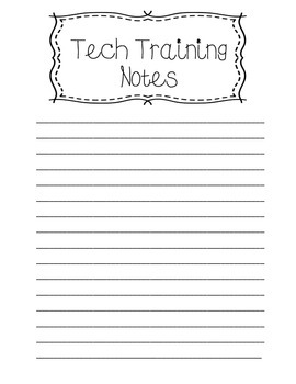 Resource and Tech Info Insert for Teaching Binder