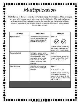 Resource for Basic Fact Strategies