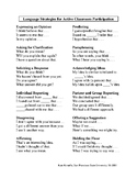 Resource for Classroom Participation