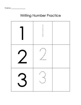 Resource for K/1 to Practice Writing Numbers 1-10 | TpT