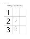 Resource for K/1 to Practice Writing Numbers 1-10