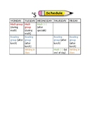 Resource room student schedules