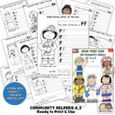 ResourceBook COMMUNITY HELPERS A-Z Color-Print-Read