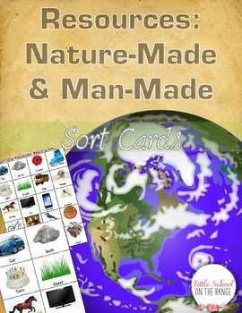 Resources: Man-Made and Nature-Made *Large and Small Sort Cards