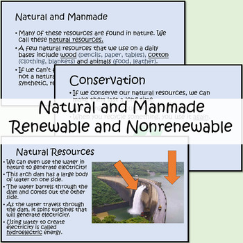 Resources (Natural, Synthetic, Renewable...) Animated PowerPoint/Guided Notes