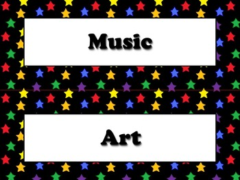 Resources and Specials Strips - Superstars Theme