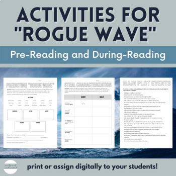 """Resources for """"Rogue Wave"""" for HMH Collections (Grade 7)"""