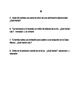 Resources for Spanish teachers (conditional)