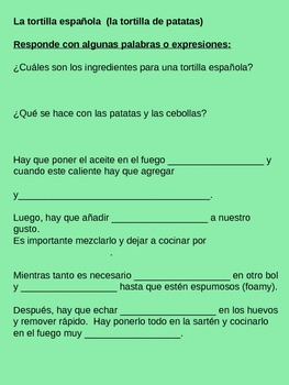 Resources for Spanish teachers (food vocabulary)