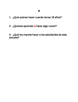 Resources for Spanish teachers (infinitives)