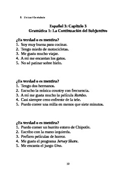 Resources for Spanish teachers (subjunctive - negation/denial)