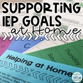 Resources for Supporting IEP Goals at Home - Homework for families