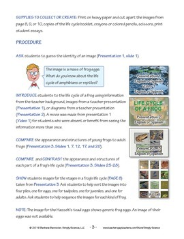 Resources for Teaching about the Life Cycle of a Frog