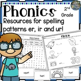 2nd Grade Phonics:Resources for learning r controlled vowels: ur, er, and ir!