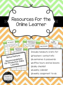 Resources for the Online Learner (Green & Orange Chevron)