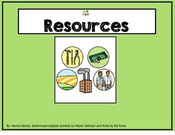 Resources: natural, renewable, nonrenewable