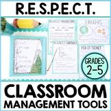 Respect Activities & Classroom Behavior Management Plan |