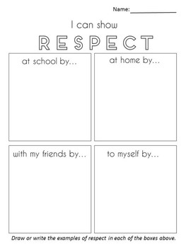 It is a picture of Delicate Free Printable Respect Worksheets