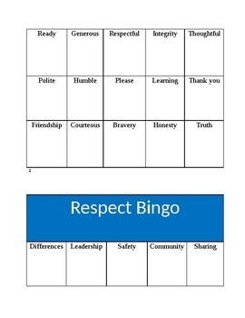 Respect Bingo
