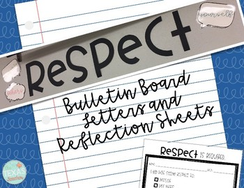 Respect Bulletin Board Set and Reflection Sheet