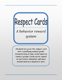 Respect Cards Behavior Reward System