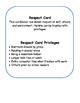 Respect Cards Behavior Reward System