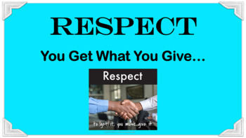 Respect Character Education Ed Lesson w 7 Video Links & 4 Activities PBIS